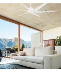 Ventilador de techo acabado blanco disponible con o sin luz LED – Cies – Faro
