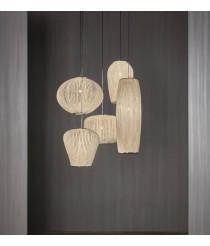 Composición colgante en acabado gris - Coral Compo Mediana - Arturo Álvarez