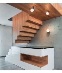 Aplique de techo en 2 tamaños y 5 colores - Cub - Pujol Iluminación