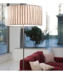 Lámpara de pie de acero y cristal en acabado blanco regulable en intensidad - Curvas - Arturo Álvarez