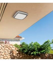 DES-Aplique de techo exterior de aluminio y acrílico IP 54 Ø 30 cm - Dalia - ACB Iluminación