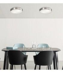 Aplique de techo de metal y cristal en 2 medidas y 2 acabados - Dins - ACB Iluminación