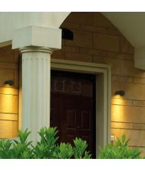 Aplique de pared de exterior de aluminio antracita IP54 LED 3000K - Cairo - Dopo - Novolux