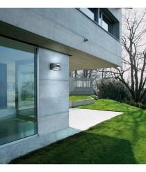 Aplique de pared de exterior en antracita IP54 - Ciclon - Dopo - Novolux