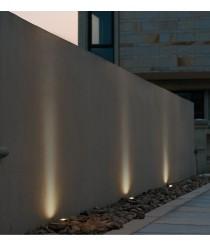 Empotrable de pared para exterior de aluminio inox pulido Ø 4 cm RGB LED IP65 - Donisi - Dopo - Novolux