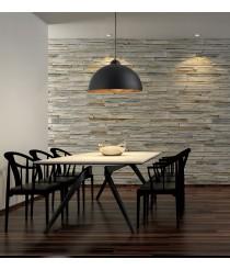 Lámpara colgante decorativa de acero negro y dorado Ø 53 cm - Tanna - Exo - Novolux