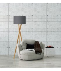 Lámpara de pie con trípode de madera sin pantalla - Wood - Exo - Novolux