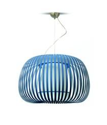 Lámpara colgante de terciopelo acabado azul - Esteno - IDP Lampshades