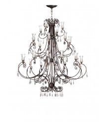 Lámpara colgante de latón con 24 luces – L2078/24 – Artesanía Joalpa