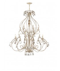 Lámpara colgante de latón 18 luces – Dafi – Artesanía Joalpa