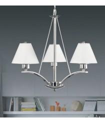 Lámpara de techo de metal y cristal con 3 o 5 brazos - Ana - ACB Iluminación
