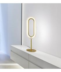 Lámpara de mesa LED de madera natural en varios acabados – Lens Oval – Lzf