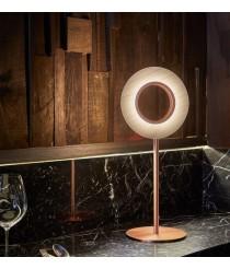 Elegante lámpara de mesa LED de madera natural en distintos acabados – Lens Circular  – Lzf