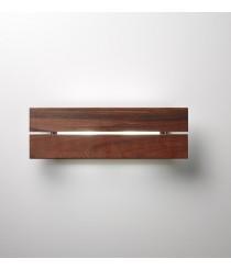 Aplique de pared LED de madera Ipé para exterior IP 55 en 2 colores - Lineana IPE – Bover