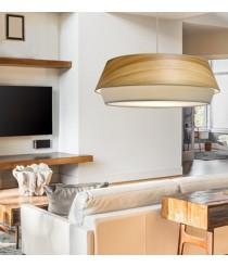 Lámpara de suspensión con pantalla de dos piezas en 2 acabados Ø 60 cm - Lisbeth - IDP Lampshades