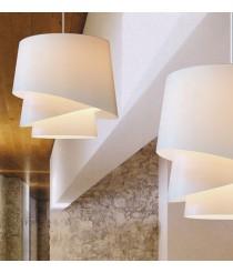 Lámpara de techo con pantalla de 3 piezas en film PVC blanco - Little Audrey - IDP Lampshades
