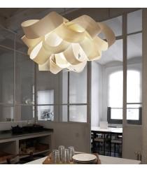 Lámpara de techo de madera natural en 11 colores y 3 tamaños - Agatha - LZF