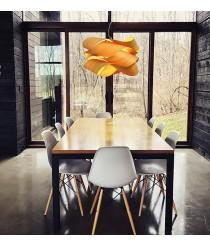 Lámpara colgante de madera natural en 11 Colores y 2 tamaños - Link Suspensión - LZF