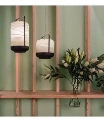 Lámpara de suspensión de madera natural en 11 colores y 4 tamaños - Chou - LZF