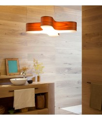 Lámpara de techo de madera natural regulable bluethooth/control remoto disponible en 11 colores - X Club - LZF