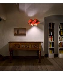 Lámpara colgante de chapas de madera en cerezo natural - Swirl - Lzf - Disponibilidad inmediata