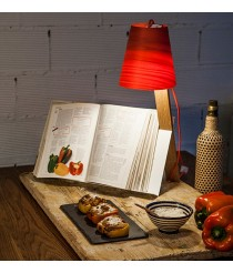 Lámpara de mesa de madera natural en 11 colores para lectura - Asterisco - LZF