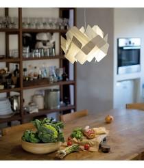 Lámpara colgante de madera natural en 11 colores y 2 tamaños - Escape - LZF
