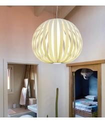 Lámpara de techo de madera natural en 11 colores y 2 tamaños - Poppy - LZF
