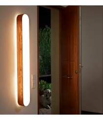Aplique de pared y techo de madera natural en 11 colores regulable LED control remoto - I Club - LZF