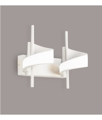Aplique de pared con 2 luces acabado blanco arena – Tsunami – Mantra Iluminación