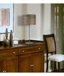 Lámpara de mesa con pantalla de madera natural en 3 acabados - Madera - IDP Lampshades