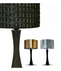 Lámpara de mesa de fibra de vidrio y pvc metálico 48 cm - Malla-Metal - IDP Lampshades