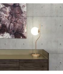 Lámpara de mesa en metal oro viejo y cristal - Maui - ACB Iluminación