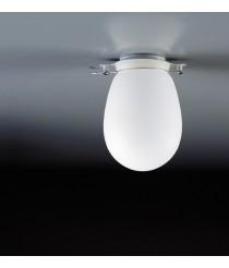 Aplique de techo de acero y vidrio en 2 tamaños con acabado blanco regulable – Baño – Milan