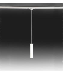 Lámpara colgante LED Ø 4 cm y 130 cm de alto de acero en 2 acabados regulable 2700K – Haul – Milan