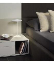 Lámpara de mesa LED Ø 20 cm de aluminio en 2 acabados regulable 2700K – Pla – Milan