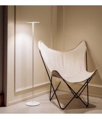 Lámpara de pie LED Ø 20 cm de aluminio en 2 acabados regulable 2700K – Pla – Milan
