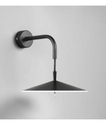 Aplique de pared LED Ø 20 cm de aluminio en 2 acabados regulable 2700K – Pla – Milan