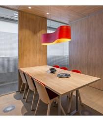 Lámpara de techo de madera natural en 3 colores regulable Bluethooth - New Wave - LZF