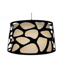 Lámpara colgante con pantalla de tela en 4 colores – Organic – El Torrent