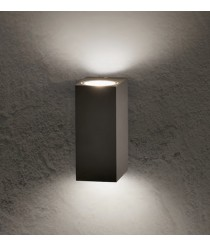 DES-Aplique de pared exterior LED de metal en gris oscuro 3000K IP 54 - Okra - ACB Iluminación