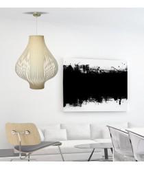 Lámpara colgante con pantalla de tiras pvc crema 50 cm - Onion - IDP Lampshades