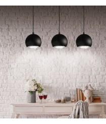 Lámpara colgante LED de aluminio en blanco o negro 3200K - Onna - ACB Iluminación