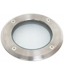 Empotrable de suelo para exterior de acero inoxidable IP67 Ø 12 cm - Sio - Dopo - Novolux
