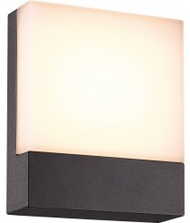 Aplique de pared LED SMD para exterior de aluminio color antracita IP54 - Cenadi - Dopo - Novolux