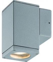 Lámpara de pared y techo para exterior de aluminio gris IP54 - Cub - Dopo - Novolux