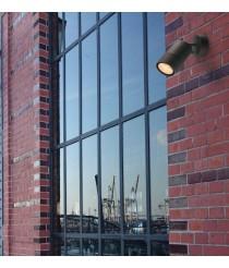 Proyector de exterior IP54 de aluminio antracita - Abadia - Dopo - Novolux