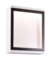 Aplque de pared de exterior de aluminio blanco IP54 LED SMD 3000K - Cella - Dopo - Novolux