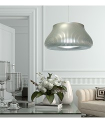 Lámpara de techo oro/plata 86 cm diámetro - Peggy - IDP Lampshades