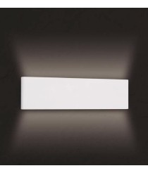Aplique de pared LED blanco mate 3000K - Petaca - Mantra